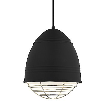 Shown in Rubberized Black with White Interior with Polished Nickel option