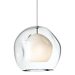 Mini-Jasper Pendant Light (Clear/Nickel/Monopoint) - OPEN BOX