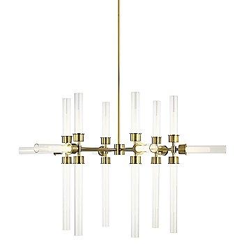 Natural Brass finish / 18 Light Option / illuminated