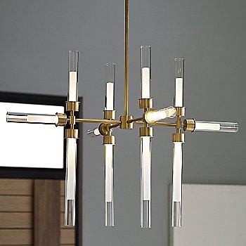 Natural Brass finish / 12 Light Option / illuminated / in use