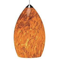 Firefrit Pendant (Tahoe Pine Amber/Satin Nickel) - OPEN BOX