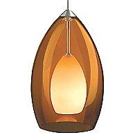 Fire Pendant (Amber/Satin Nickel/754) - OPEN BOX RETURN
