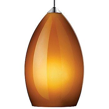 Amber shade with Chrome finish