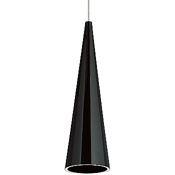 Shown in Black shade with Satin Nickel finish, Small size