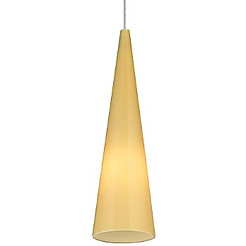Shown in Latte shade with Satin Nickel finish, Small size