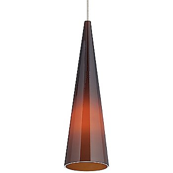 Shown in Brown shade with Satin Nickel finish, Small size