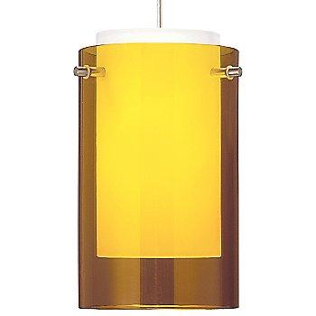 Amber shade / Satin Nickel finish