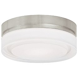 Cirque LED Small Satin Nickel 3000K Flushmount