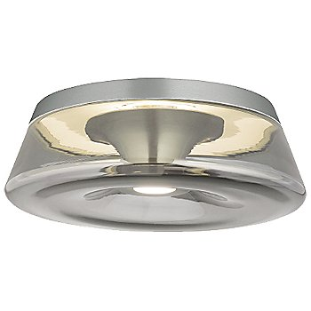 Shown in Satin Nickel finish, Smoke shade