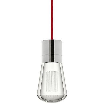 Shown in Satin Nickel finish, Red cord