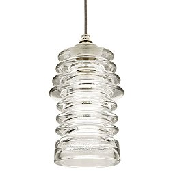 Watt Ribbed Glass Pendant Light