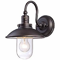 Downtown Edison Domed Wall Sconce (Bronze w/ Gold)-OPEN BOX