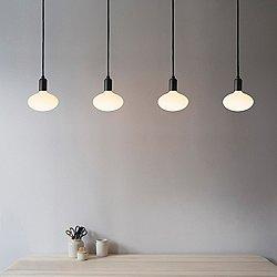 Oval Linear Multi-Light Pendant Light