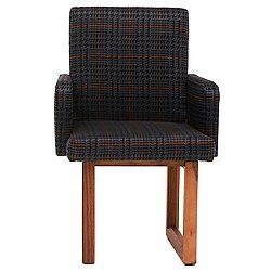 C2 Houndstooth Armchair Walnut