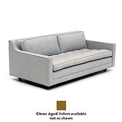 UP Two Seater Loveseat (Citron Aged Velvet/3-Inch) - OPEN BOX RETURN