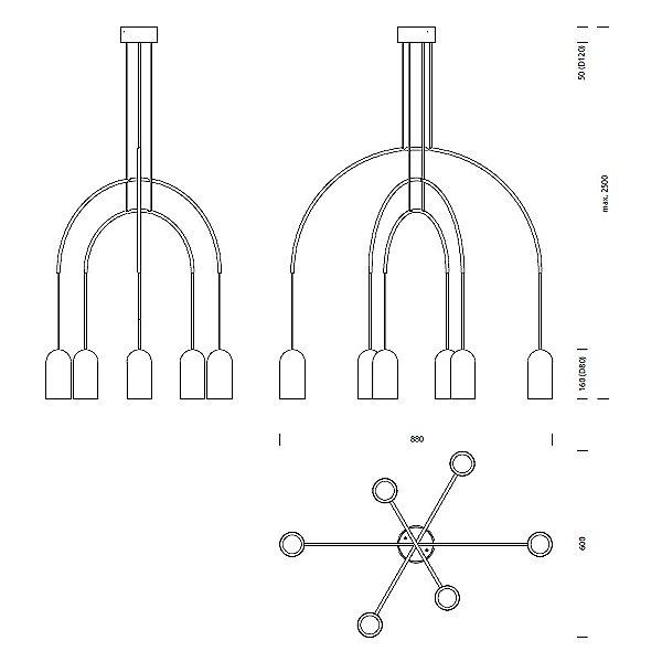 Bow III Pendant Light