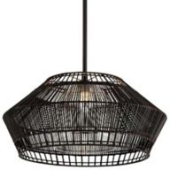 Black Woven Pendant Light