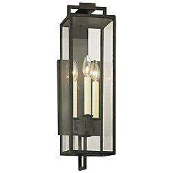Beckham Outdoor Wall Sconce(Forged Iron/3 Lights) - OPEN BOX