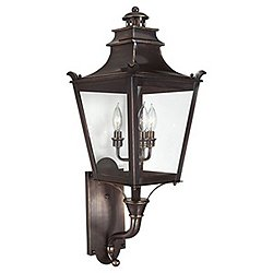 Dorchester Outdoor Wall Sconce(Clear/Bronze/Medium)-OPEN BOX