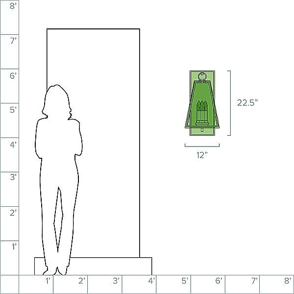 Adamson 3-Light Outdoor Wall Light
