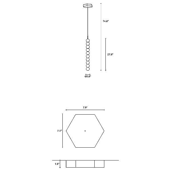 Abacus 10 Sphere LED Pendant Light