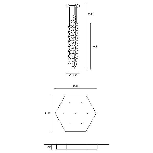 Abacus 15 Sphere 7 LED Chandelier