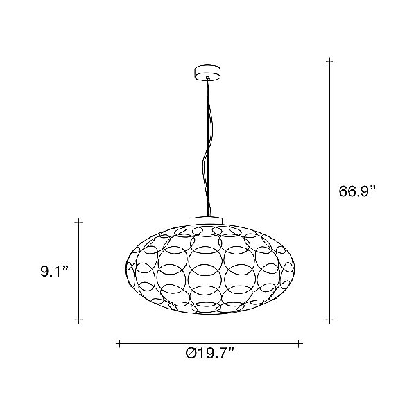 G.R.A. Oval LED Pendant Light