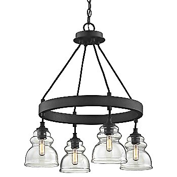 4 Light with antique reproduction bulb