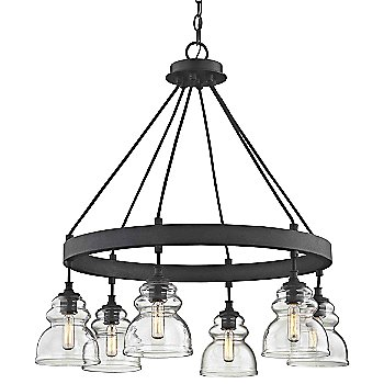 6 Light with antique reproduction bulb