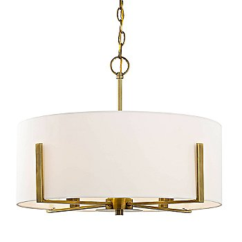 Aged Brass finish With White Shade