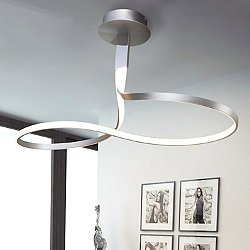 Wave WIP Ceiling Light (Silver) - OPEN BOX RETURN