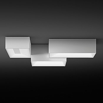 Shown in White finish, grouped with the Link Single Square Flushmount, available separately