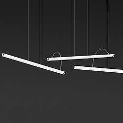 Halo Lineal Triple LED Pendant Light