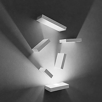 Shown lit in Off-White matte finish, LED + 5 Block option