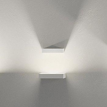 Shown lit in Off-White matte finish, LED + 1 Block option