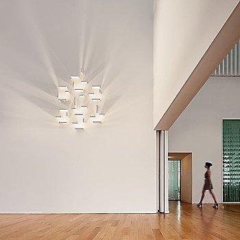 Shown lit in Off-White matte finish, 7 LED Blocks, various block options
