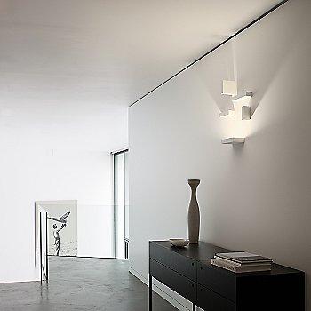 Shown lit in Off-White matte finish, LED + 4 Block option