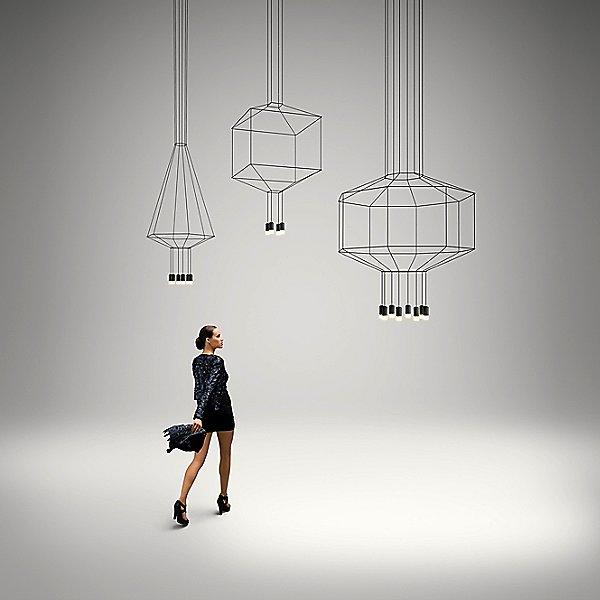 Wireflow 3D Octagonal Pendant Light