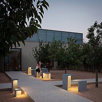 Empty LED Outdoor Bollard collection / illuminated / in use