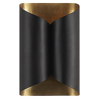 Shown in Black with Hand Rubbed Antique Brass finish, Wide