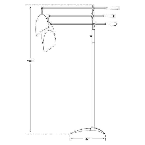 Sommerard Triple Arm Floor Lamp