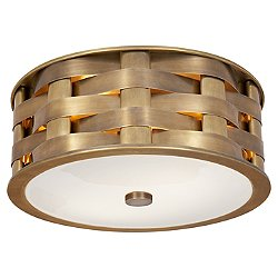 Ella Woven Flush Mount Ceiling Light