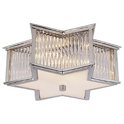 Sophia Flush Mount Ceiling Light with Clear Glass Rods