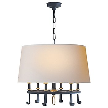 Shown in Blackened Rust with Antique Brass Accents finish