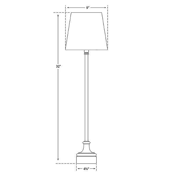 Cawdor Buffet Lamp