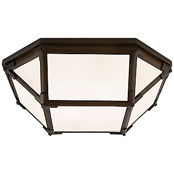 Frosted shade color / Antique Zinc finish / Large size