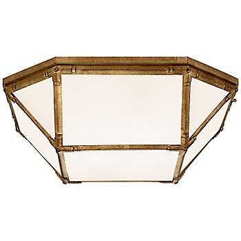White shade color / Gilded Iron finish / Small size