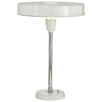 Shown in Polished Nickel/Antique White finish