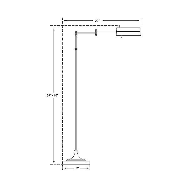 Dorchester Swing Arm Pharmacy Floor Lamp