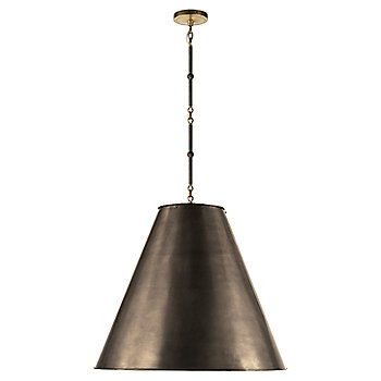 Shown in Bronze with White Interior and Bronze/Hand-Rubbed Antique Brass finish, Large size